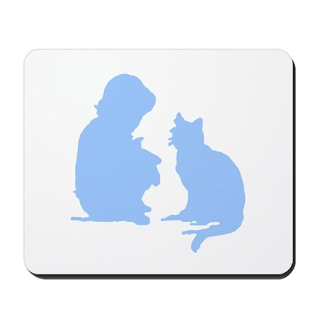 Child and Cat Mousepad