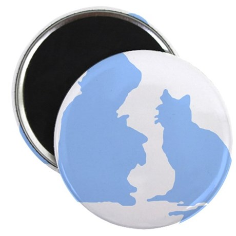Child and Cat 2.25&quot; Magnet (10 pack)