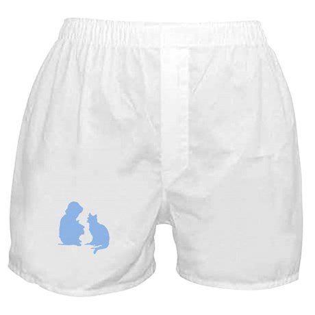 Child and Cat Boxer Shorts