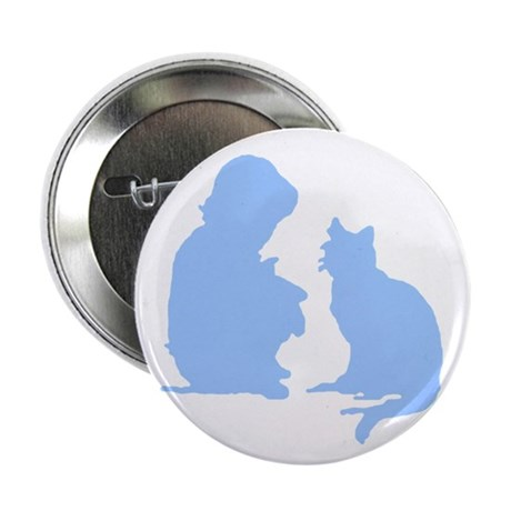 Child and Cat 2.25&quot; Button (100 pack)