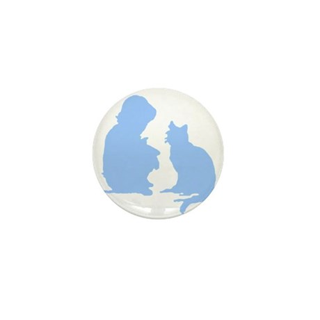 Child and Cat Mini Button (100 pack)
