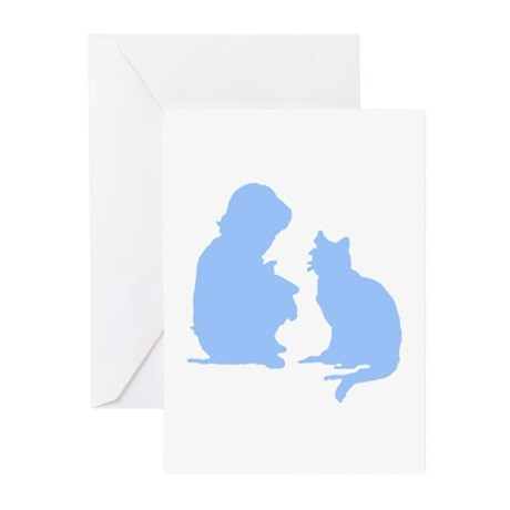 Child and Cat Greeting Cards (Pk of 10)