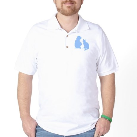 Child and Cat Golf Shirt