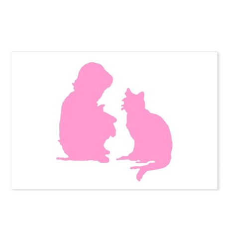 Child and Cat Postcards (Package of 8)