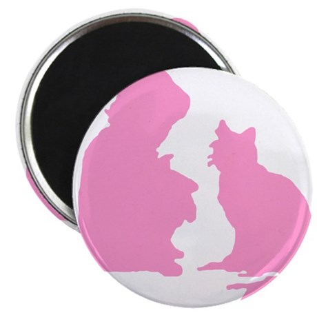 "Child and Cat 2.25"" Magnet (10 pack)"