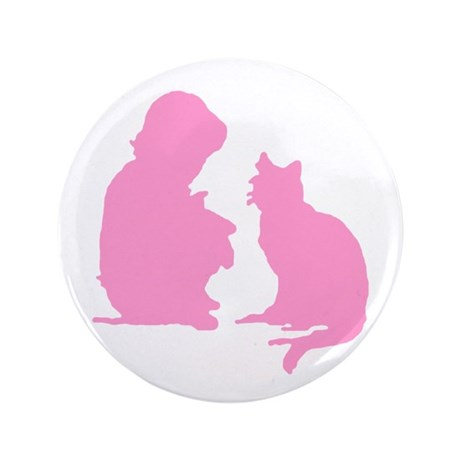 "Child and Cat 3.5"" Button"