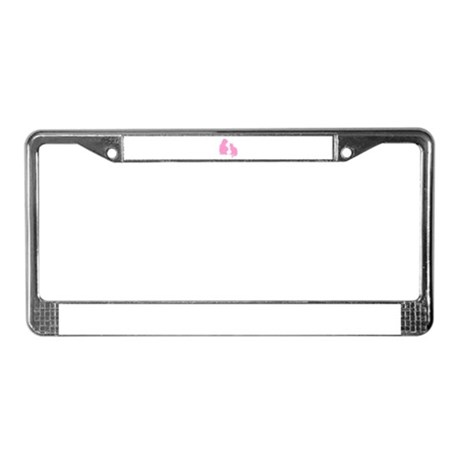 Child and Cat License Plate Frame