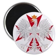Polish Eagle Red Maltese Cros Magnet