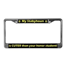 Honor Student Stabyhoun License Plate Frame