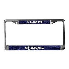 Funky Love Stabyhoun License Plate Frame