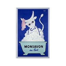 Monsavon Au Lait Rectangle Magnet (10 pack)