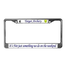 Not Just Target Archery License Plate Frame