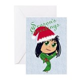 Kicking Good Year Greeting Cards (Pk of 10)