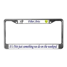 Not Just Fiber Arts License Plate Frame