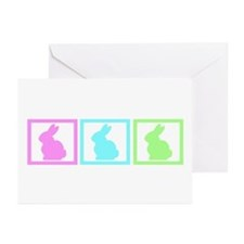 Rabbit Pastel Squares Greeting Cards (Pk of 20)