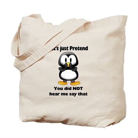 Pretend Penguin Tote Bag