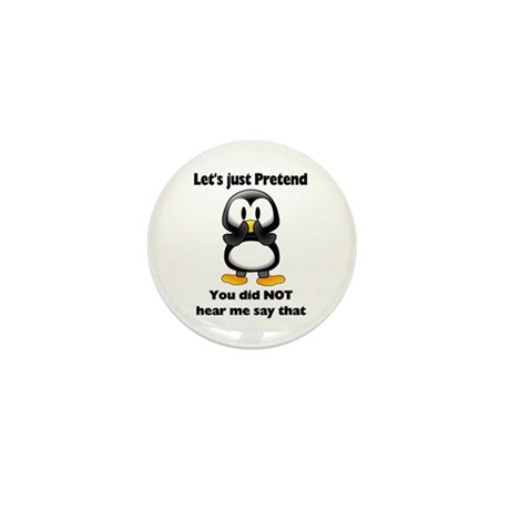 Pretend Penguin Mini Button (10 pack)