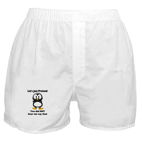 Pretend Penguin Boxer Shorts