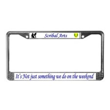 Not Just Scribal Arts License Plate Frame