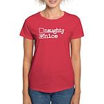 nice. naughty. Women's Dark T-Shirt