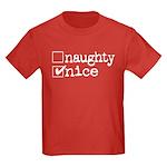 nice. naughty. Kids Dark T-Shirt