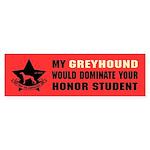 Greyhound - Honor Student Domination Sticker