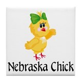 Nebraska Chick Tile Coaster