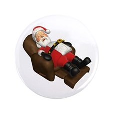 "Sleeping Santa 3.5"" Button"
