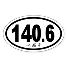 140.6 Triathlon Oval Decal