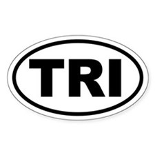 Basic Triathlon Oval Decal
