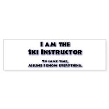 Ski Instructor Bumper Car Sticker