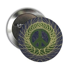 Mandala Peace Button (10 pack)