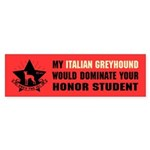 Italian Greyhound Domination Sticker