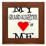 My Grandaughter Loves Me Framed Tile