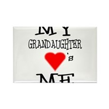 My Grandaughter Loves Me Rectangle Magnet