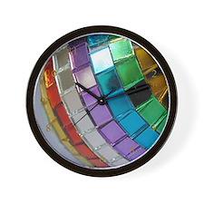 Rainbow Disco Ball Wall Clock