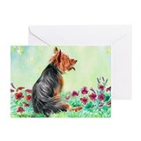 Australian Terrier &quot;Gardening 1&quot; Greeting Cards (P