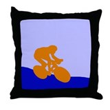 ORANGE CYCLIST Throw Pillow