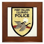 Fort Collins Police Framed Tile