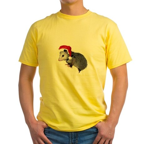 Santa Possum Yellow T-Shirt