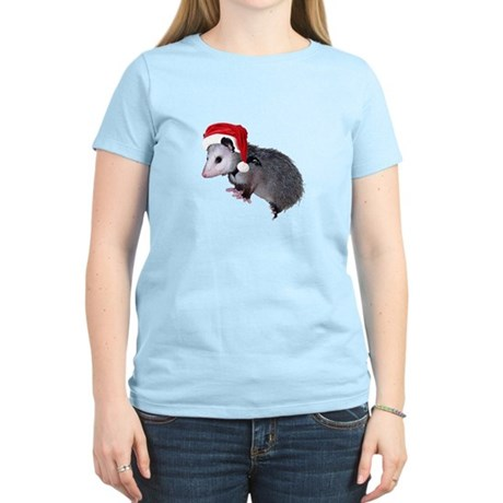 Santa Possum Women's Light T-Shirt