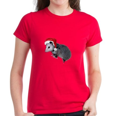 Santa Possum Women's Dark T-Shirt