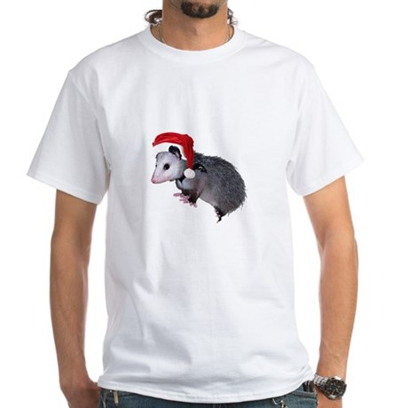 Santa Possum White T-Shirt