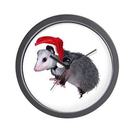 Santa Possum Wall Clock