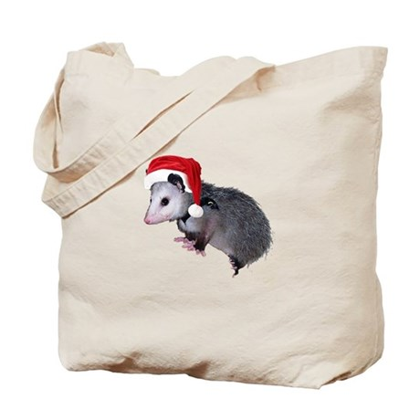 Santa Possum Tote Bag