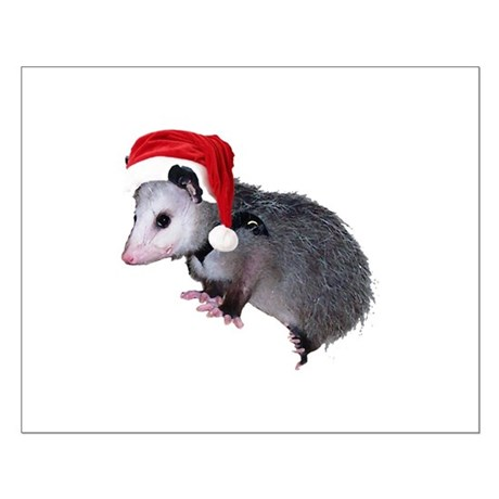 Santa Possum Small Poster