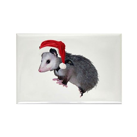 Santa Possum Rectangle Magnet (100 pack)