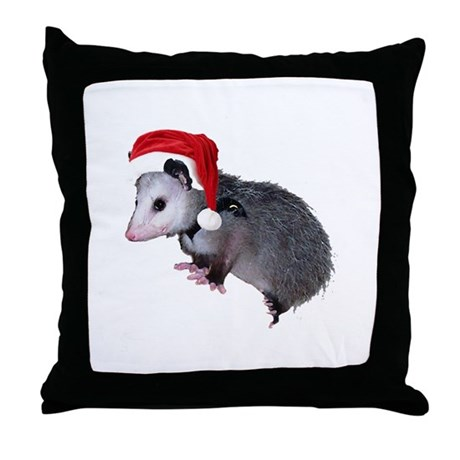 Santa Possum Throw Pillow