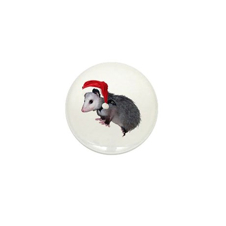 Santa Possum Mini Button (100 pack)