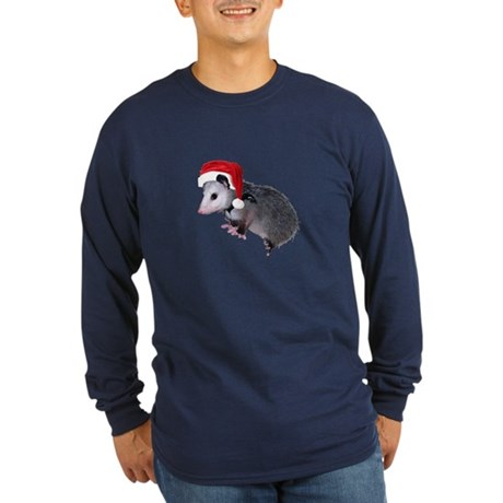 Santa Possum Long Sleeve Dark T-Shirt